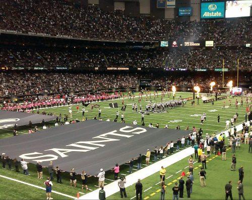 New Orleans Saints game at Mercedes Benz Superdome