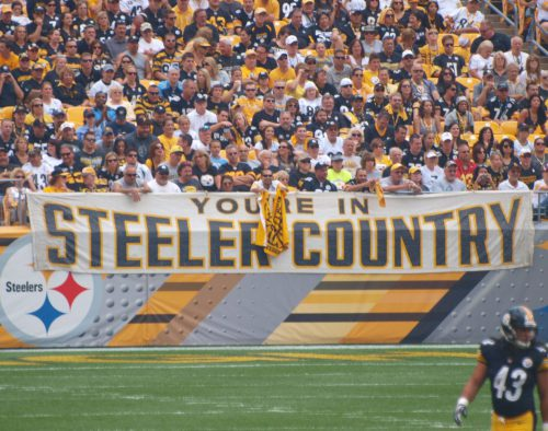fans Pittsburgh Steelers country cheering at the game