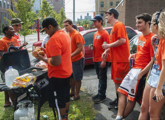 Syracuse Orange fans barbecue tailgate