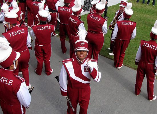 Temple Owls marching band