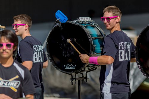 post game entertainment by D Line official drum line of the Jacksonville Jaguars drummers