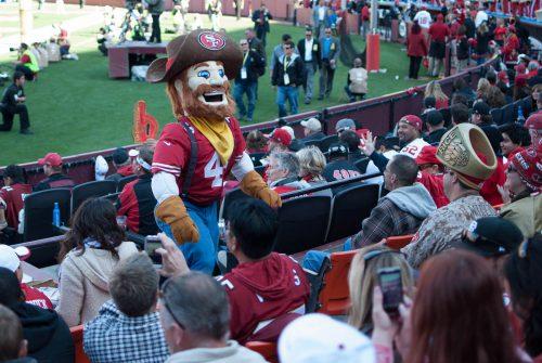 San Francisco 49ers mascot Sourdough Sam ingame entertainment for fans