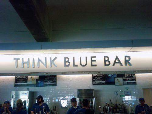 Think Blue Bar