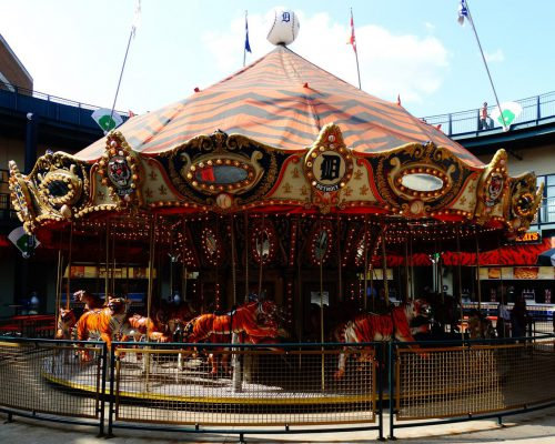 carousel at Comerica Park