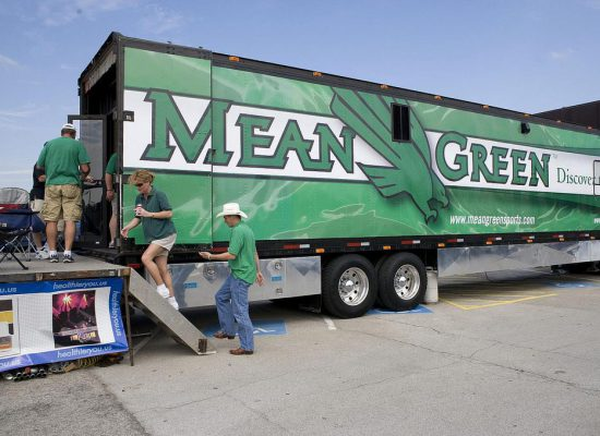 North Texas Mean Green truck