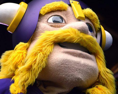 Minnesota Vikings mascot Viktor the Viking