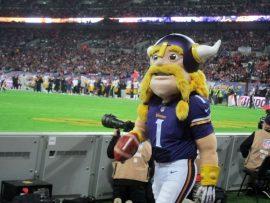 NFL Minnesota Vikings mascot Viktor the Viking
