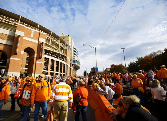 Tennessee Volunteers fans on football gameday