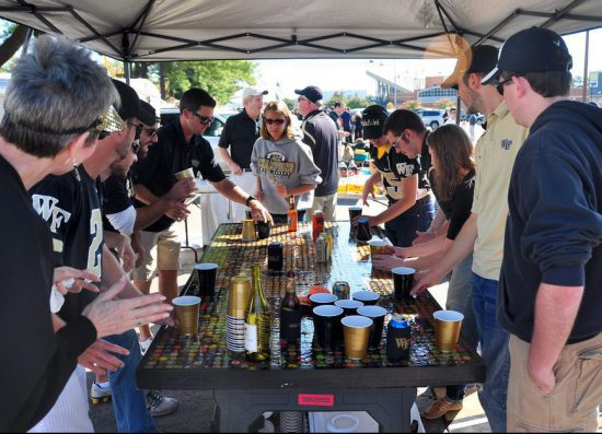 Wake Forest Demon Deacons beer party