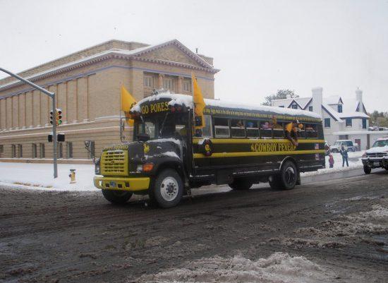 Wyoming Cowboys bus