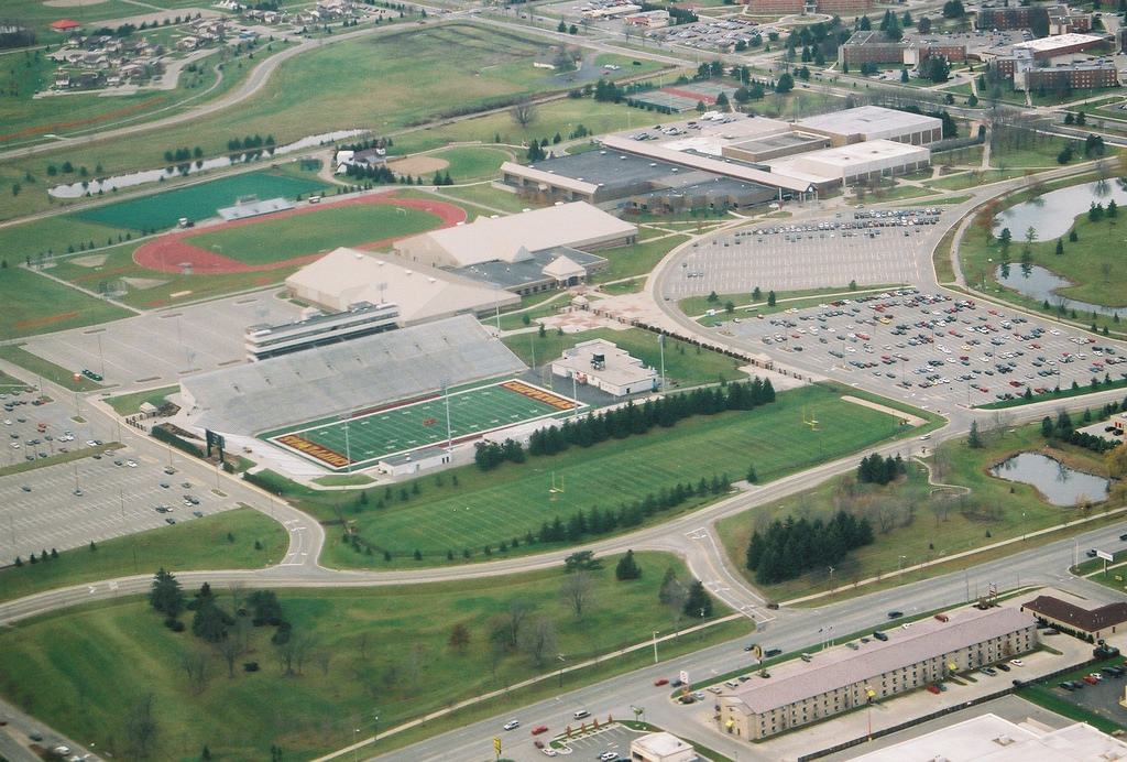 Kelly Shorts Stadium aerial view