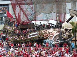 Pirate Ship Tampa Bay Buccaneers at Raymond James Stadium