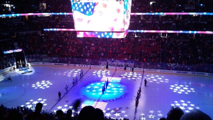 Anaheim Ducks and Los Angeles Kings game