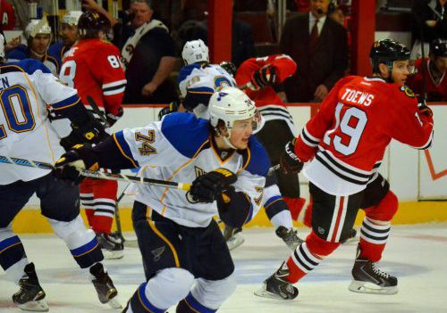 St Louis Blues vs Chicago Blackhawks game