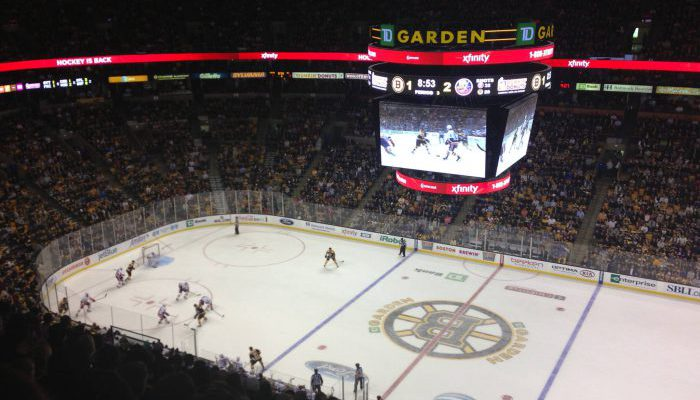 TD Garden stadium of Boston Bruins