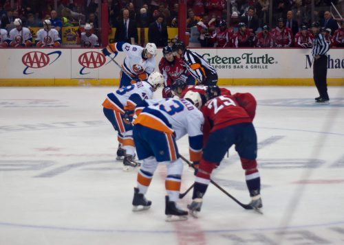 Washington Capitals vs New York Islanders game