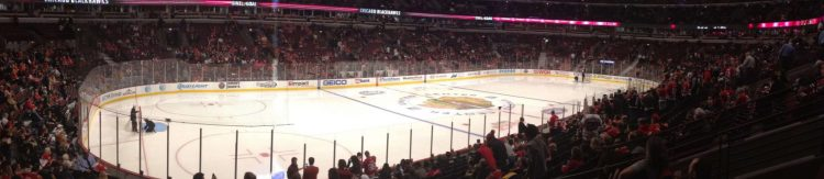 United Center stadium of Chicago Blackhawks