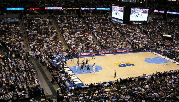 Denver Nuggets game at Pepsi Center