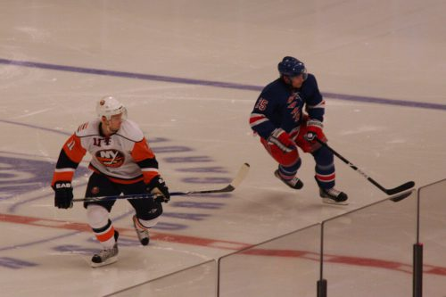 New York Islanders vs New York Rangers hockey game