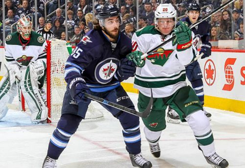 Winnipeg Jets vs Minnesota Wild hockey game