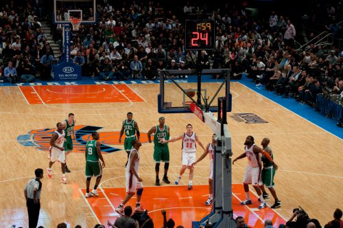 New York Knicks vs Boston Celtics game