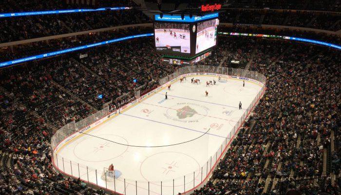 Minnesota Wild game at Xcel Energy Center