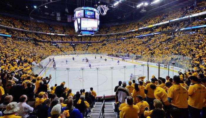 crowd at Nashville Predators game