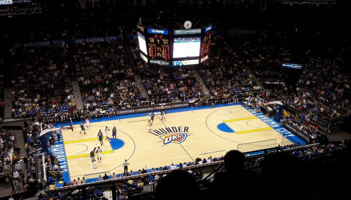 Oklahoma City Thunder basketball game