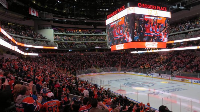 sold out Watch Party at Rogers Place Stanley Cup playoffs Edmonton Oilers