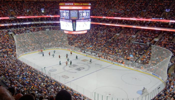 crowd at Wells Fargo Center