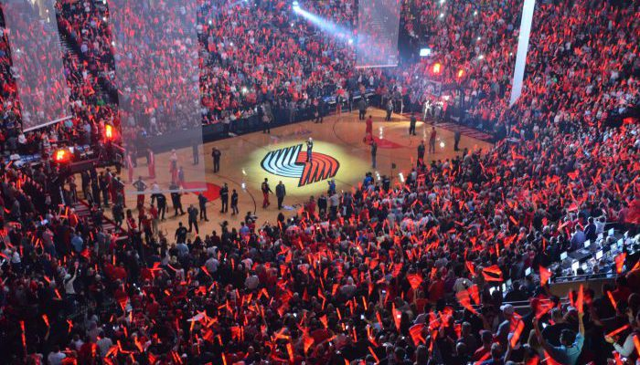 Portland Trail Blazers game crowd