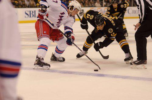 New York Rangers vs Boston Bruins game