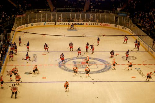 New York Rangers vs Philadelphia Flyers game