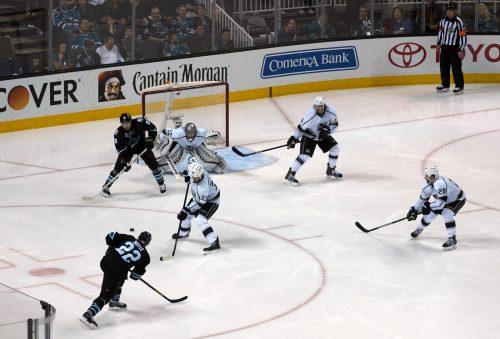 San Jose Sharks vs Los Angeles Kings game
