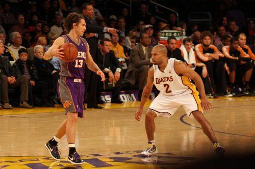 Phoenix Suns vs Los Angeles Lakers basketball