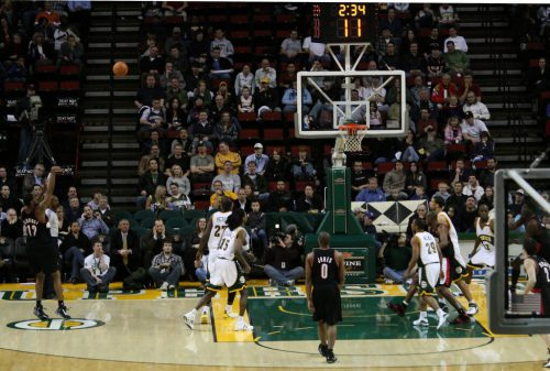 Portland Trail Blazers vs Seattle SuperSonics game