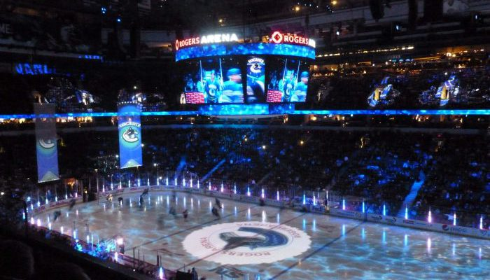 Rogers Arena Vancouver Canucks game