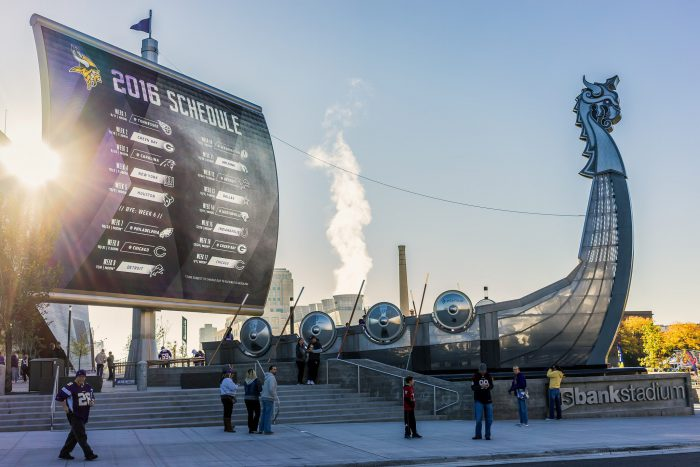 Minnesota Vikings ship has timeline of historical events in US Bank Stadium