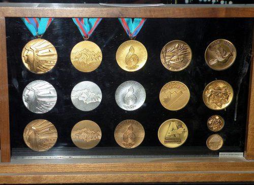 set of medals at Scotiabank Saddledome