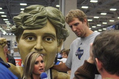 Life size Dirk Nowitzki Dallas Mavericks
