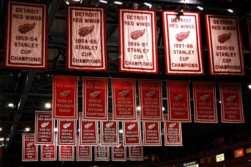 Detroit Red Wings banners