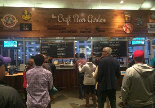 the Craft Beer Garden Spectrum Center