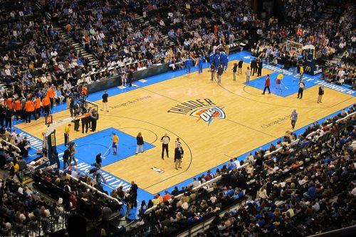 Oklahoma City Thunder basketball game