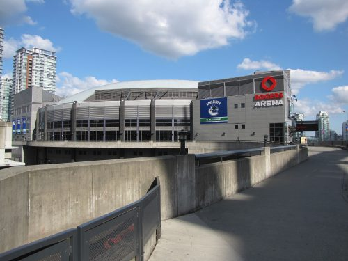 Rogers Arena stadium of Vancouver Canucks