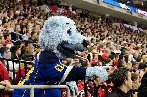 Louie St Louis Blues mascot