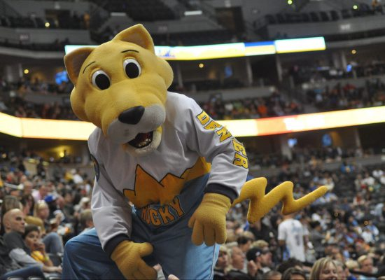 Denver Nuggets mascot Rocky the Mountain Lion