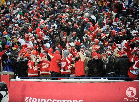 Detroit Red Wings fans at the game