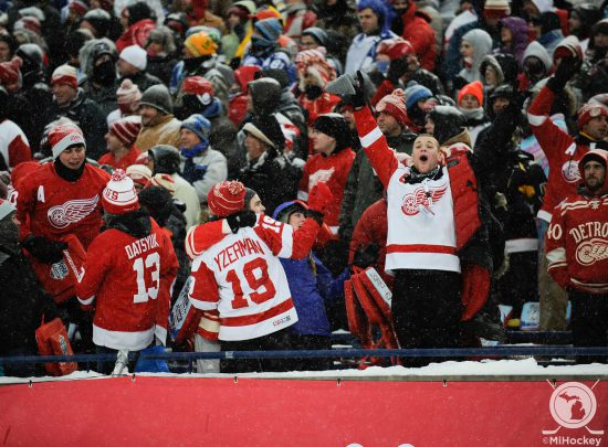 Detroit Red Wings fans cheer