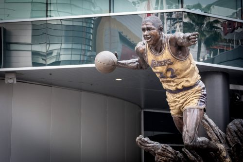 Magic Johnson statue Staples Center