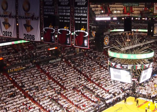 Miami Heat banners fans